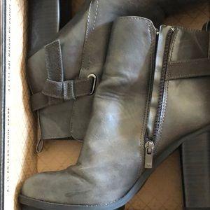 Dark gray booties, size 9